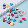 Handmade Polymer Clay Fruit Theme BeadsX-CLAY-Q215-01-4