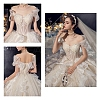Polyester & Plastic Boning Sewing Wedding Dress FabricOCOR-WH0052-26A-7
