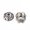 6-Petal Tibetan Style Alloy Flower Bead CapsTIBE-S220-AS-RS-2