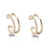 Brass Cuff EarringsEJEW-I249-16G-1