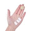 White Rectangle Jewelry Price TagsX-TOOL-C003-02-3