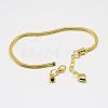 Brass European Style Bracelet MakingX-MAK-R011-04G-3