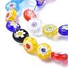 Flat Round Handmade Millefiori Glass BeadsX-LK-R004-54-3