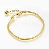 Brass European Style Bracelet MakingX-MAK-R011-04G-1