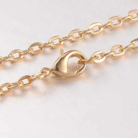 Iron Cable Chain Necklace MakingMAK-J004-28KCG-1