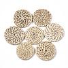 Handmade Reed Cane/Rattan Woven BeadsX-WOVE-T006-029A-1