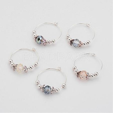 Glass Beads Wine Glass CharmsAJEW-JO00142-1