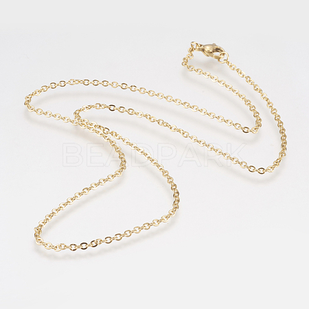 304 Stainless Steel Rolo Chain NecklacesNJEW-F179-03G-1