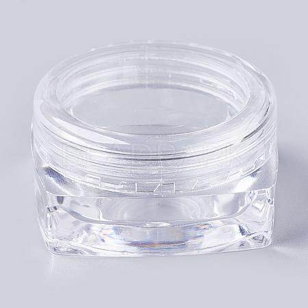 3G PS Plastic Empty Portable Facial Cream JarMRMJ-WH0020-02-1