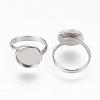 Adjustable 304 Stainless Steel Finger Rings ComponentsSTAS-E144-026-12mm-2