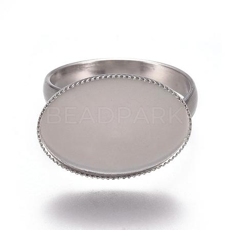 304 Stainless Steel Finger Rings ComponentsX-STAS-E482-26P-1