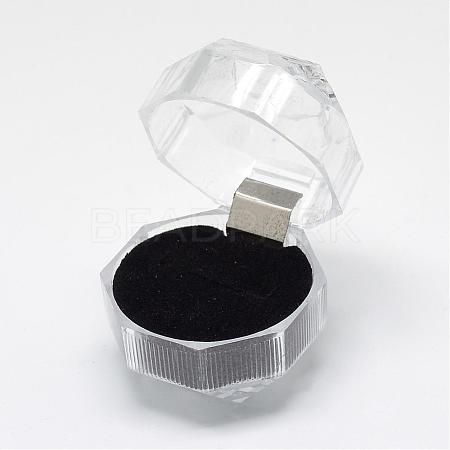 Transparent Plastic Ring BoxesOBOX-R001-04B-1