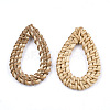 Handmade Reed Cane/Rattan Woven Linking Rings X-WOVE-T005-16-2