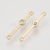 Brass Cubic Zirconia Links connectorsX-KK-N216-24-2