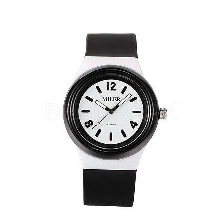 Children's 304 Stainless Steel Silicone Quartz Wrist WatchesWACH-N016-07-1