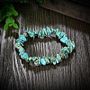 Natural Turquoise Chips Stretch BraceletsBJEW-BB16534-F-4