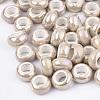 Electroplate Porcelain BeadsPORC-T003-01-12-1