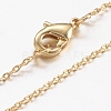 Brass Chain Necklaces Making MAK-L009-03G-1
