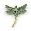 Dragonfly Zinc Alloy Big Pendant Rhinestone SettingsX-PALLOY-R065-090-FF-2