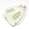 Polycotton(Polyester Cotton) Packing Pouches Drawstring BagsABAG-T004-10x14-16-3