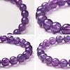 SUNNYCLUE® Natural Amethyst Round Beads Stretch BraceletsBJEW-PH0001-8mm-18-4