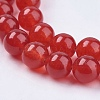 Natural Jade Bead Strands X-G-R165-8mm-15-3
