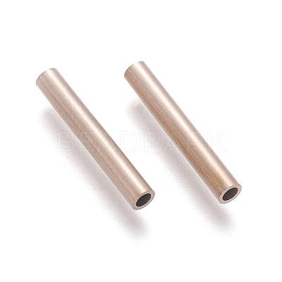 Vacuum Plating 304 Stainless Steel Tube BeadsSTAS-G197-01RG-1