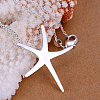 Brass Starfish PendantsKK-BB11654-4
