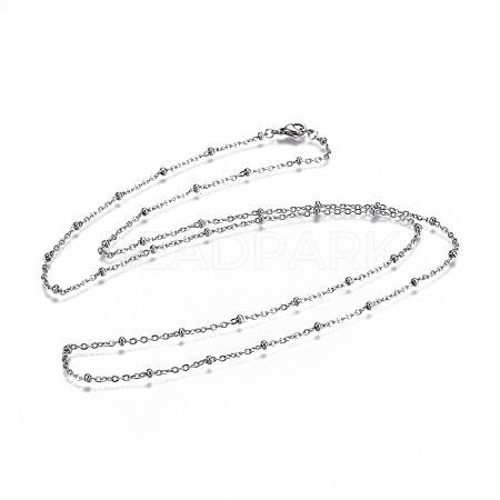 304 Stainless Steel Cable Chain Necklaces NJEW-JN02352-1