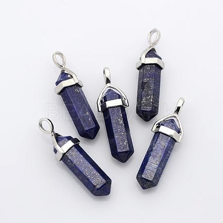 Natural Lapis Lazuli PendantsX-G-D415-16-1