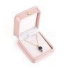 PU Leather Necklace Pendant Gift BoxesLBOX-L005-F02-3