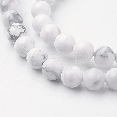 Natural Howlite Bead Strands G-G735-66-6mm-1