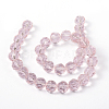 Faceted Glass Round Beads StrandsX-GF10mmC29Y-4