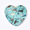 Assembled Synthetic Regalite/Imperial Jasper/Sea Sediment Jasper and Turquoise PendantsG-S329-034A-3