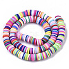 Handmade Polymer Clay Beads Strands CLAY-R089-6mm-048-2