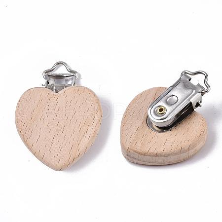 Beech Wood Baby Pacifier Holder ClipsWOOD-T015-01-1