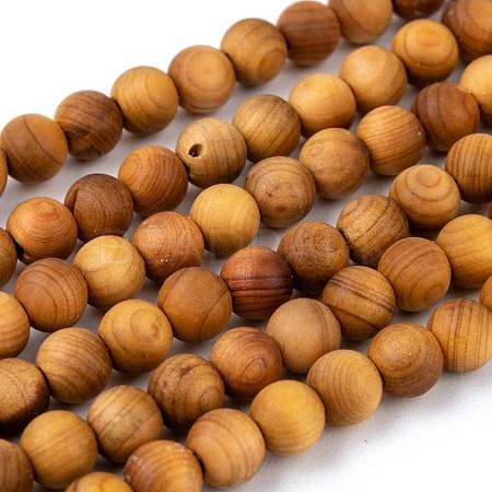 Natural Wood Beads StrandX-WOOD-F006-01-6mm-1