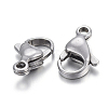 304 Stainless Steel Lobster Claw Clasps STAS-F182-01P-B-1