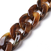 Handmade Acrylic Beaded Curb Chains AJEW-JB00488-M-3