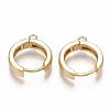 Brass Huggie Hoop Earring FindingsX-KK-S350-069G-1
