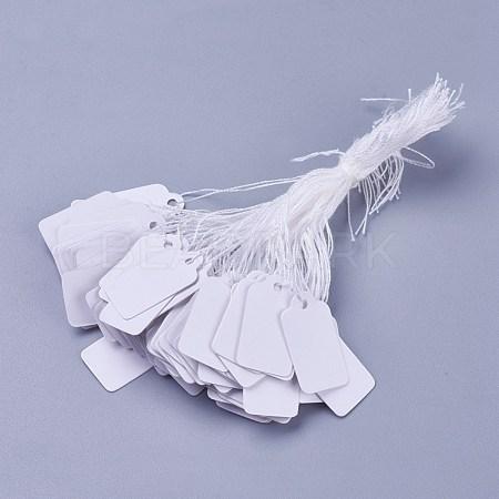 White Rectangle Jewelry Price TagsTOOL-C003-02-1