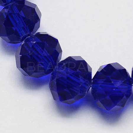 Handmade Imitate Austrian Crystal Faceted Rondelle Glass BeadsX-G02YI0C2-1