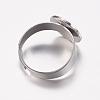 Adjustable 304 Stainless Steel Finger Rings ComponentsSTAS-F149-20P-3