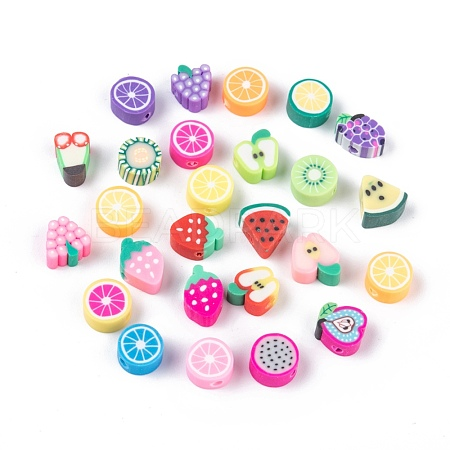 Handmade Polymer Clay Fruit Theme BeadsX-CLAY-Q215-01-1
