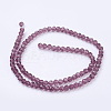 Faceted Round Glass Beads StrandsX-EGLA-J042-4mm-06-3