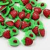 Acrylic Strawberry Shank ButtonsX-BUTT-E025-03-1