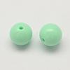 Opaque Acrylic Round BeadsX-SACR-Q100-6mm-M091-2