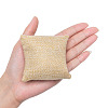 Kraft Hemp Pillow Holder for Jewelry Bracelet & Watch DisplaysX-BDIS-WH0002-01-3
