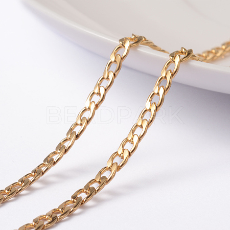 Vacuum Plating 304 Stainless Steel Twisted Chain Curb ChainsCHS-H007-29G-1