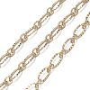 Brass Textured Oval Link Chains CHC-S004-07G-2